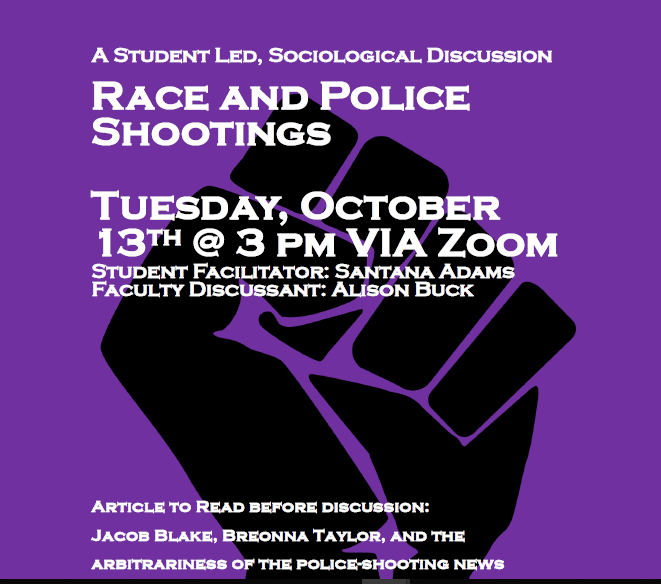race and police shooting event poster