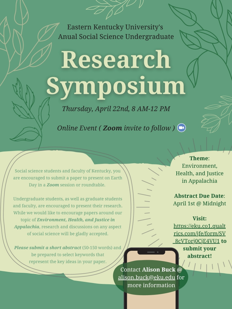 Flyer for our 2021 Undergraduate Research Symposium
